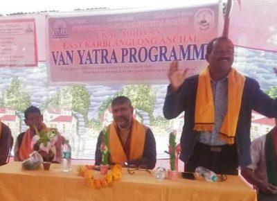 Ekal Abhiyan, East Karbi Anglong District Organised E-Van Yatra
